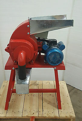 Hammer Mill Feed Grinder - 3hp 220v 1ph Electric Powered Usa In-stock Wsupport