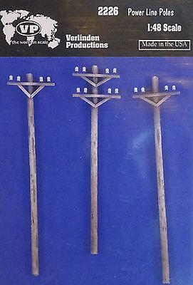 VERLINDEN PRODUCTIONS #2226 Power Line Poles für Diorama in 1:48