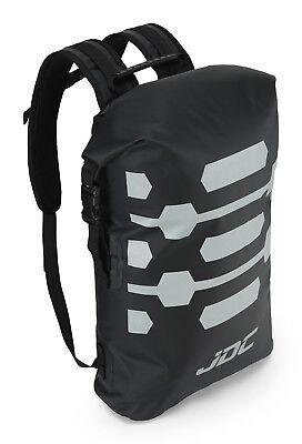 JDC Motorcycle Motorbike Rucksack 100% Waterproof Dry Bag 30L Hi-Vis - Black