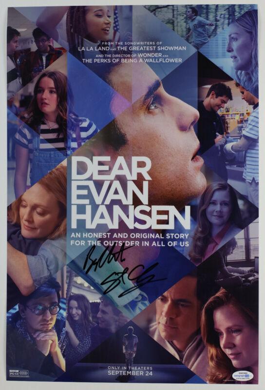 Ben Platt & Director Stephen Chbosky Signed Dear Evan Hansen 12x18 Photo ACOA B