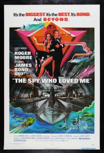 THE SPY WHO LOVED ME ✯ CineMasterpieces ORIGINAL JAMES BOND MOVIE POSTER 1977
