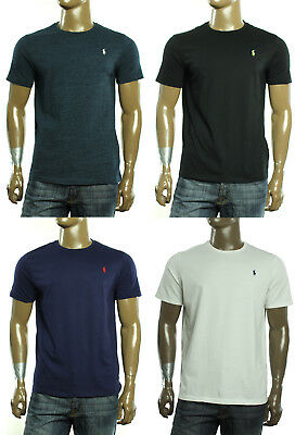 - New Mens Polo Ralph Lauren Logo Custom Fit Crew Neck Cotton T Shirt Tee