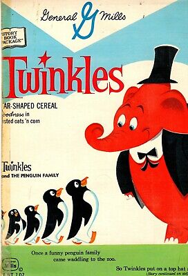 Vintage Twinkles and The Penguin Family General Mill Cereal Box Story Book 1960s