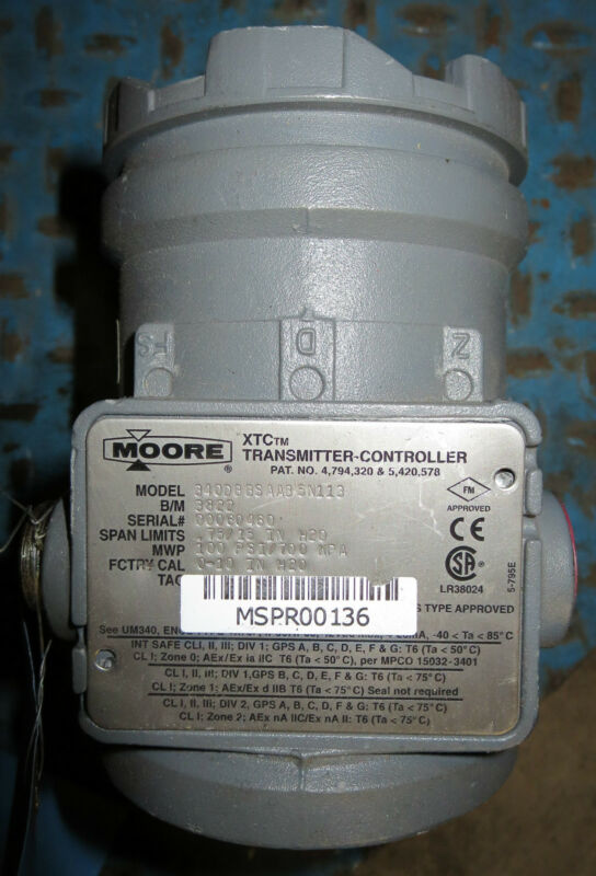 Moore 340DBBSAAB5N113 XTC Transmitter-Controller (Missing Cap)