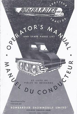 Operator's Manual and Spare Parts List BOMBARDIER J-5 48