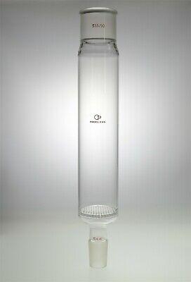Proglass Distillation Column With Pore Plate80mm Diameterbody 300mm