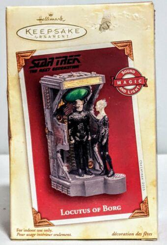 STAR TREK LOCUTUS OF BORG2005 HALLMARK CHRISTMAS ORNAMENT NEW IN BOX # 6205