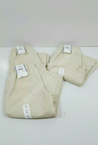3Pr Elderwear Tom Sawyer Pull On Uniform Khaki Pants Size 2 Waist 20-1/2