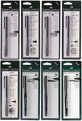 Faber Castell Pitt Artist Pen Black India Ink Acid Free Archival Permanent