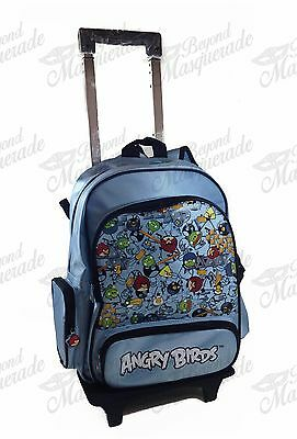 "16"" Up in arms Birds Backpack Teen Boys Large Rolling Backpack - Teal"