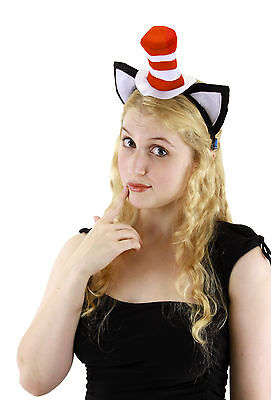 Dr. Seuss Cat In The Hat Economy Child & Adult Costume Headband With Ears Elope - Baby Dr Seuss Costume