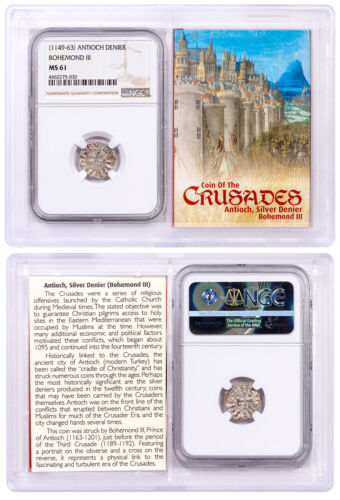 Antioch Denier, King Bohemond III (1149-1163) NGC MS61 Story Vault SKU50457