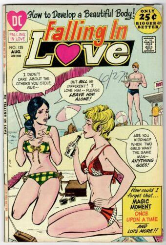 Falling in Love  No.125  Aug. 1971 DC Bronze-Age Romance Double-Sized Comic 7.5