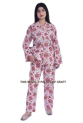 Button-Down Shirt Pajama Night Suit Set With Bag Women's Ethnic Sleepwear Dress  Button Down Shirt With Suit