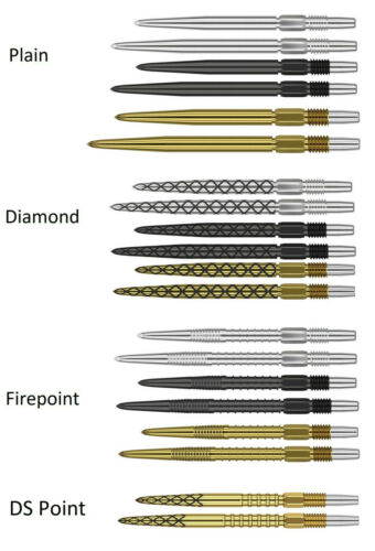 Target Swiss Replacement Dart Points for Swiss Darts - Choose Grip Colour & Size