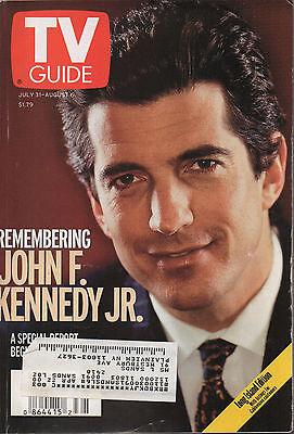 1999 TV Guide Remembering John F. Kennedy Jr. July 31- August 6