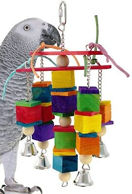 1491 KISSES BIRD TOY parrot cage toys cages african grey conure amazon eclectus