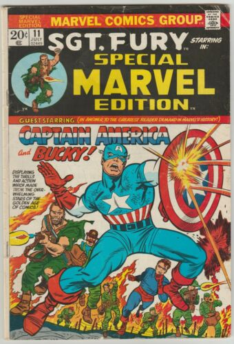 Special Marvel Edition # 11 1973 SGT.FURY with Mark Jewlers & Mennen Ad  (Rare)