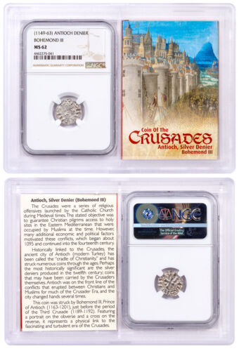 Antioch Denier, King Bohemond III (1149-1163) NGC MS62 Story Vault SKU50451