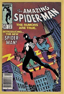 AMAZING SPIDER-MAN #252 VG/FN (5.0) *75¢ CANADIAN PRICE VARIANT* BLACK COSTUME!