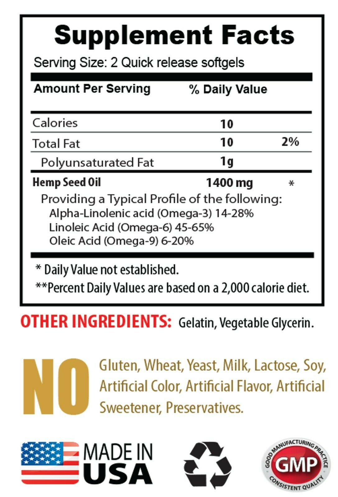 appetite control - ORGANIC HEMP SEED OIL 1400mg (1) - boost cognitive function 1