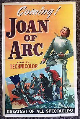 *JOAN OF ARC (1948) Advance One-Sheet STYLE B Ingrid Bergman Shot By An Arrow!
