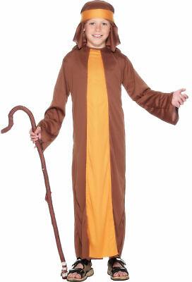 Boys Girls Kids Shepherd Joseph Christmas Xmas Nativity Fancy Dress Costume 4-12](Joseph Costume Nativity)