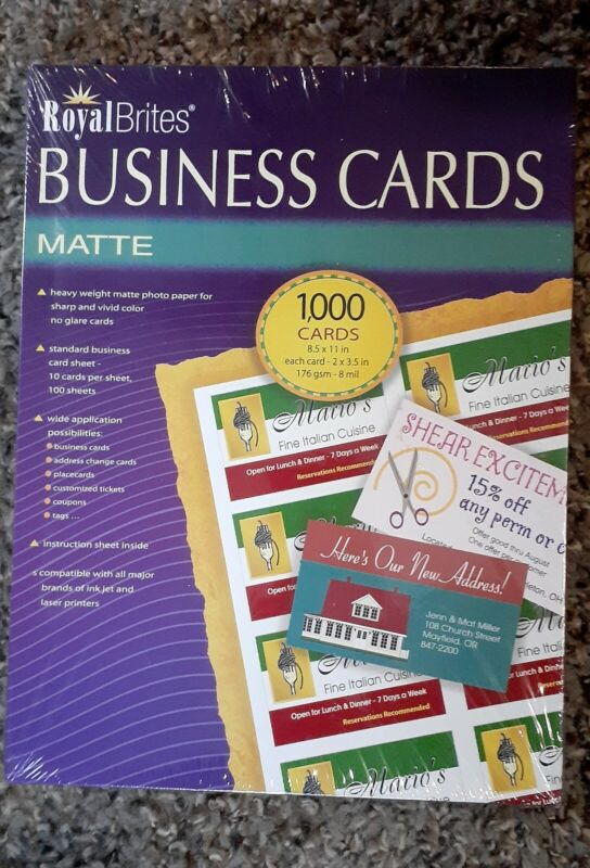 Royal Brites Business Cards~Matte~1000ct