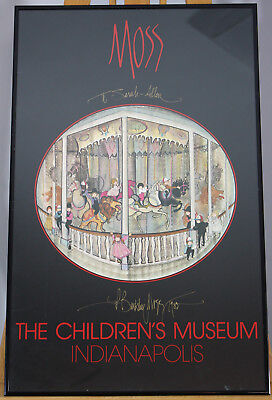 """Used, """"The Childrens Museum Indianapolis"""" 1984 P Buckley Moss Signed Framed Art Poster for sale  Arlington"""