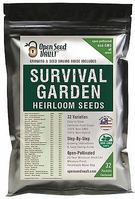 Vegetable Garden Seed (EMERGENCY SURVIVAL GARDEN VEGETABLE SEED NON-GMO HEIRLOOM SEED BANK PACK SET)