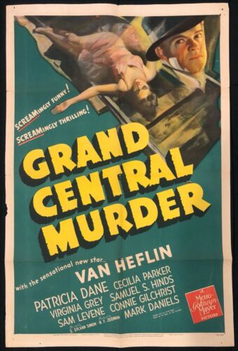 "Grand Central Murder (MGM, 1942). One Sheet (27"" X 41""). Mystery"