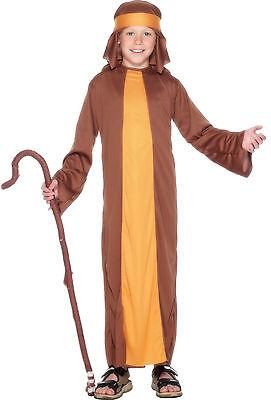 Boys Girls Kids Shepherd Joseph Christmas Xmas Nativity Fancy Dress Costume 4-12