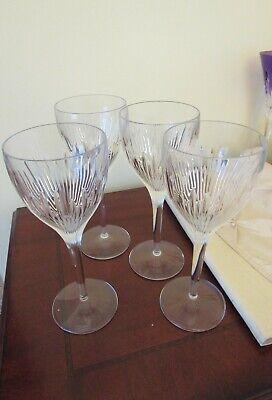 4 Hard to find Jasper Conran for Waterford BRILLIANCE Crystal Wine (Jasper Conran Crystal)
