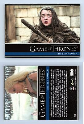 The Red Woman #3 Game Of Thrones Season 6 Rittenhouse 2017 Trading Card