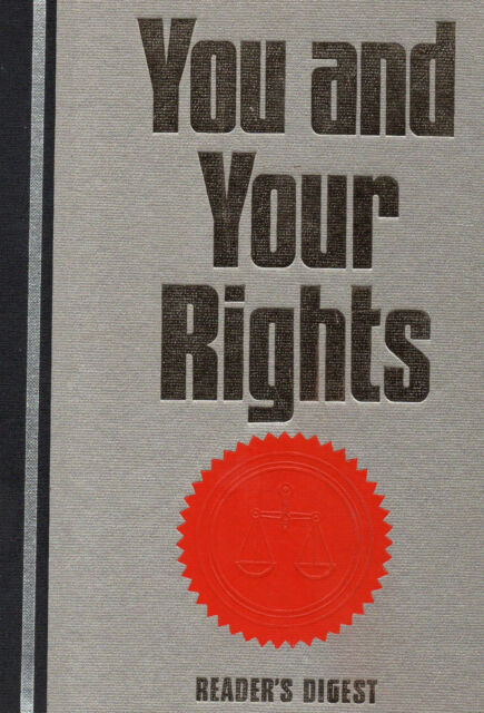 You and Your Rights by Reader's Digest (Hardback, 1991)