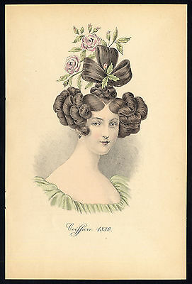 Antique print-HAIRSTYLE-WOMAN-PORTRAIT-1830-Nissy-1910
