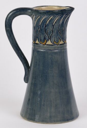 """NEWCOMB COLLEGE HIGH GLOSS 8"""" PITCHER DATED 1908 MAY LOUISE DUNN"""