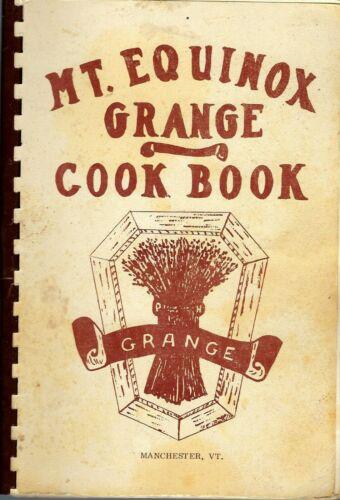 * MANCHESTER VT 1973 MT EQUINOX GRANGE COOK BOOK * LOCAL ADS * VERMONT COMMUNITY