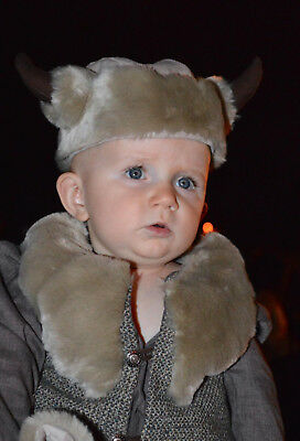 Infant Renaissance Costume (Fearless Viking Infant Baby Halloween Medieval Costume 9-12M OOAK)