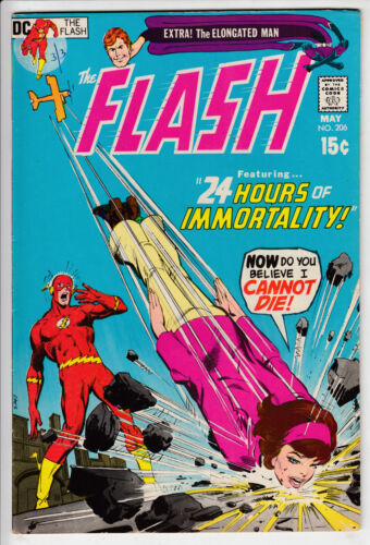 The FLASH # 206 DC Comics 1971 Silver NICE GLOSS high grade 8.5 + CLEAN run up