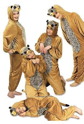 Erdmännchen Plüsch Kostüm Overall Tier Fell Plüschkostüm Löwe Tiger Katze - Erdmännchen Kostüm