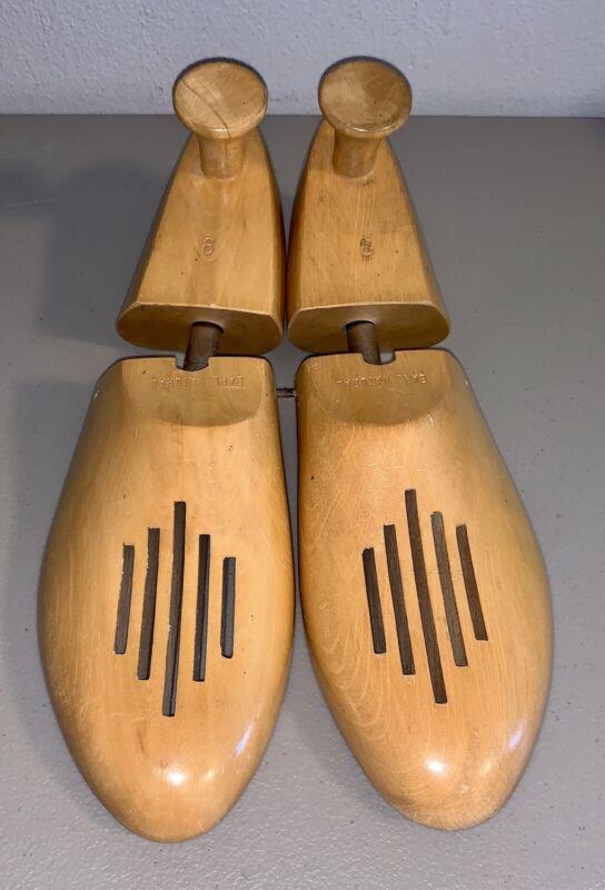 Vintage Yugoslavia Earl Natural Size 9 Wood Shoe Forms Stretchers Mens Vented