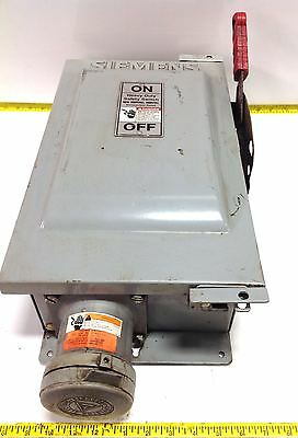 Siemens 60a 600vacdc Type Vbii Safety Switch W Plug Hf362j 99171 Pzb