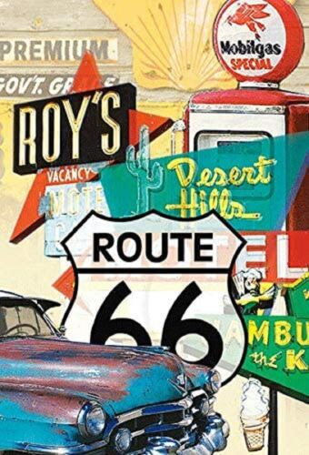 Historic Route 66 Double Sided 3D Key Chain