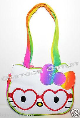 HELLO KITTY GIRLS BAG PURSE NERD TOTE BIRTHDAY GIFT SANRIO HELLO KITTY GLASSES (Thomas The Train Gift Bags)
