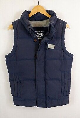Ladies Superdry Academy Vest Down Quilted Gilet Bodywarmer Jacket Small