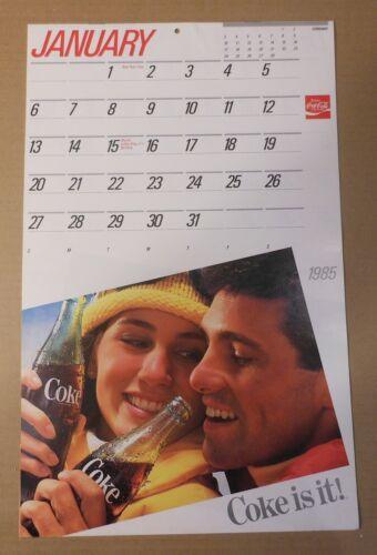 Vintage Coca Cola 1985 Calendar