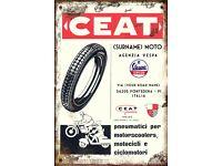 Vintage Retro Personalised VESPA Service Club Medium Sized Tin Sign Italian