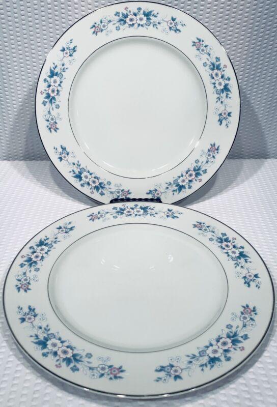 "Lot Of 2 ~ Carlton Dinner Plates Made In Japan Carla 10 5/8"""