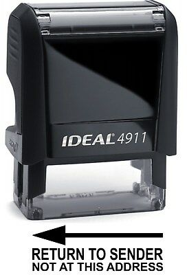 Return To Sender Text On Ideal 4911 Self-inking Rubber Stamp With Black Ink